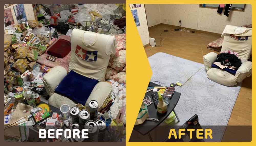 ゴミ屋敷状態になっているお部屋の家庭ごみの回収のご依頼をいただきました。