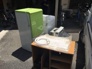 前橋市内で、冷蔵庫、テレビなどの回収1