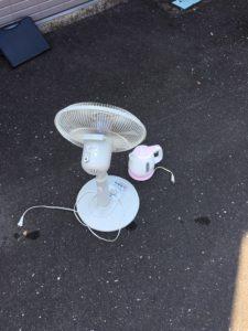 高崎市で、ポットと扇風機の回収1