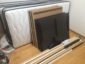 高崎市内で、ベッド、スーツケース等の回収1