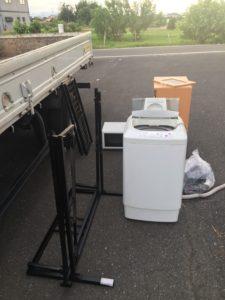 高崎市で、冷蔵庫・電子レンジ・レンジ台の回収1