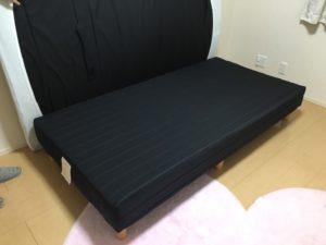 高崎市にて、シングルベッドの回収1