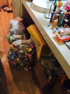 高崎市内で、雑誌、ペットボトルなどの回収3