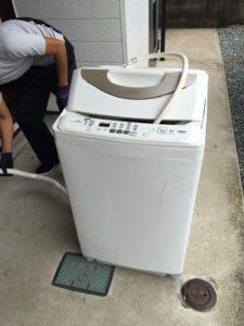 伊勢崎市にて、洗濯機回収のご依頼1