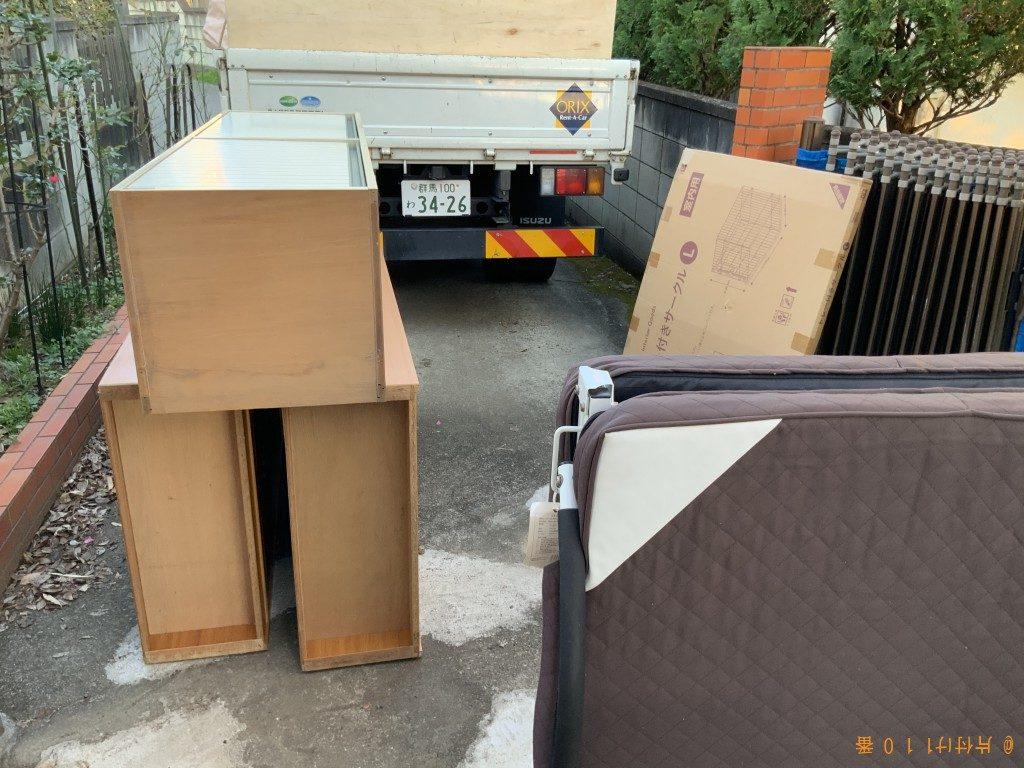 【邑楽郡邑楽町】エアコン、本棚、折り畳みベッドの回収・処分ご依頼