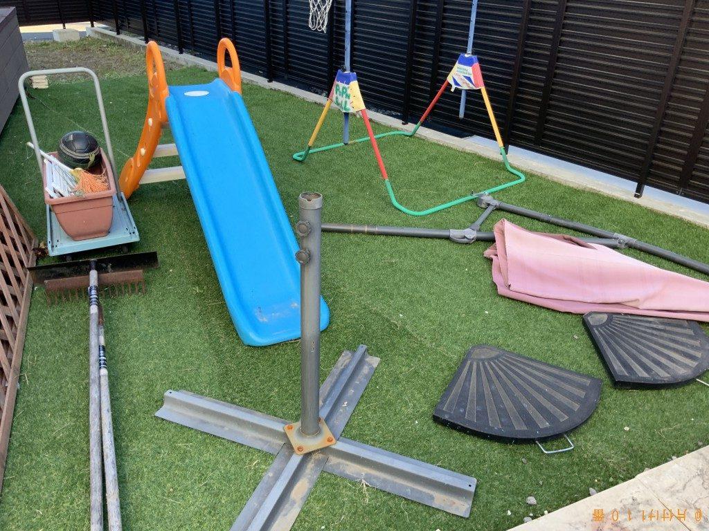 【長野原町】子供用の滑り台、子供用のブランコ等の回収・処分