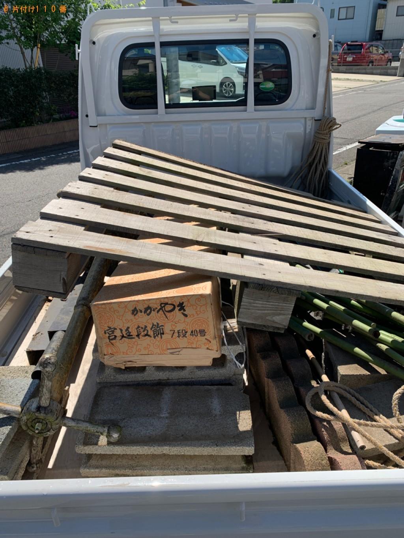【渋川市北橘町】雨どい、板、植物の蔓奉、ハンガーラック等の回収