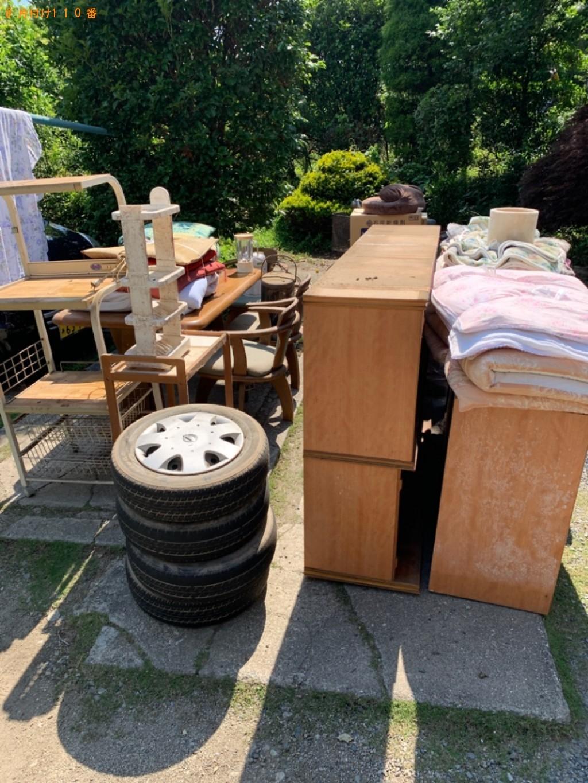 【富岡市】4人用ダイニングテーブル、食器棚、椅子等の回収・処分