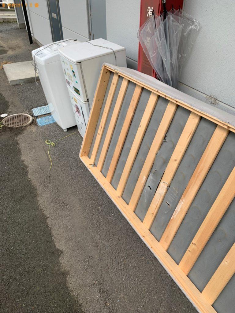 【渋川市】遺品整理に伴い冷蔵庫、洗濯機、シングルベッドマットレスの回収