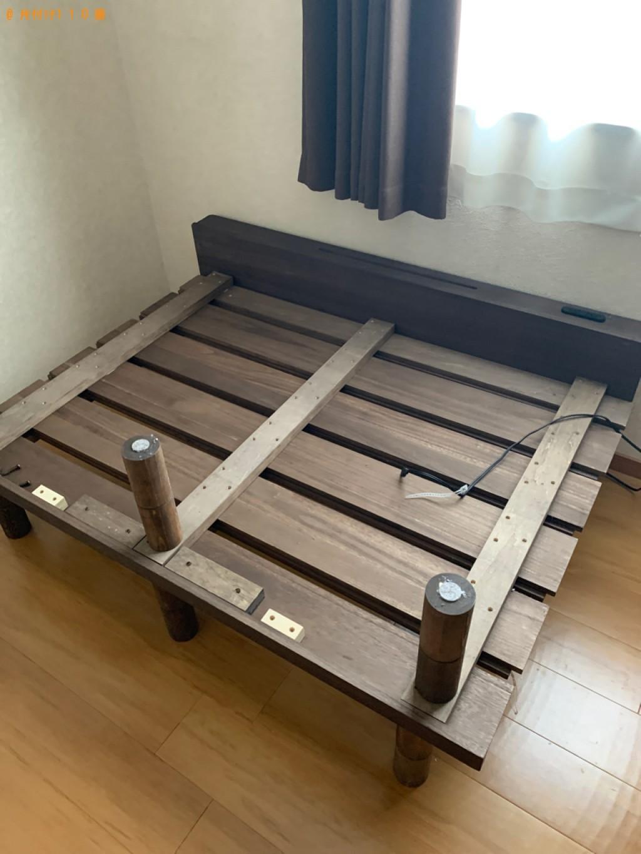 【高崎市上中居町】ダブルベッド、ベッドマットレスの回収・処分