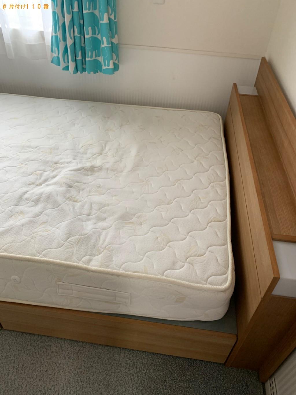 【高崎市下中居町】ダブルベッド、ベッドマットレスの回収・処分