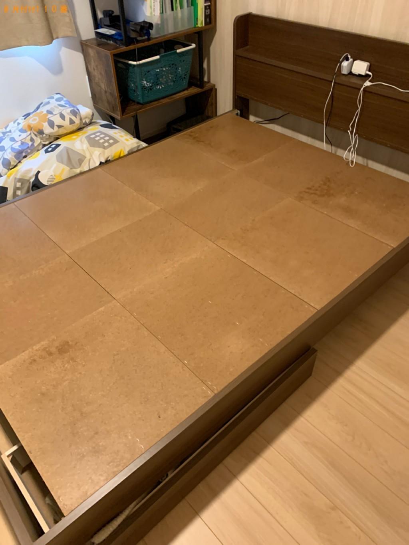 【高崎市倉賀野町】布団、ダブルベッドマットレス、ゴミ箱等の回収