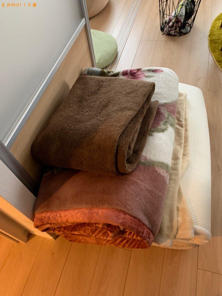 【高崎市】遺品整理に伴い布団、ダブルベッドマットレス、ゴミ箱等の回収