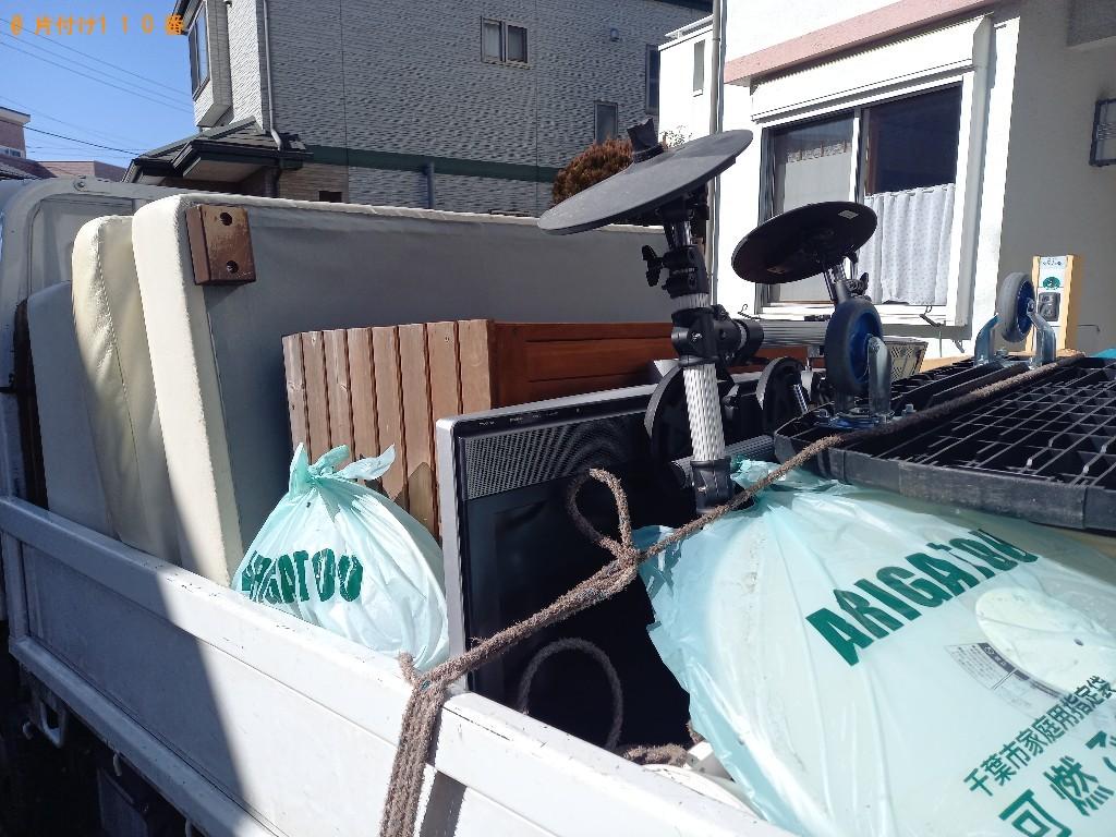 【前橋市】テレビ、ソファー、木製のケース、ミニ電子ドラム等の回収