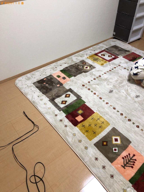 【前橋市】四人用ダイニングテーブル、三人掛けソファー等の回収