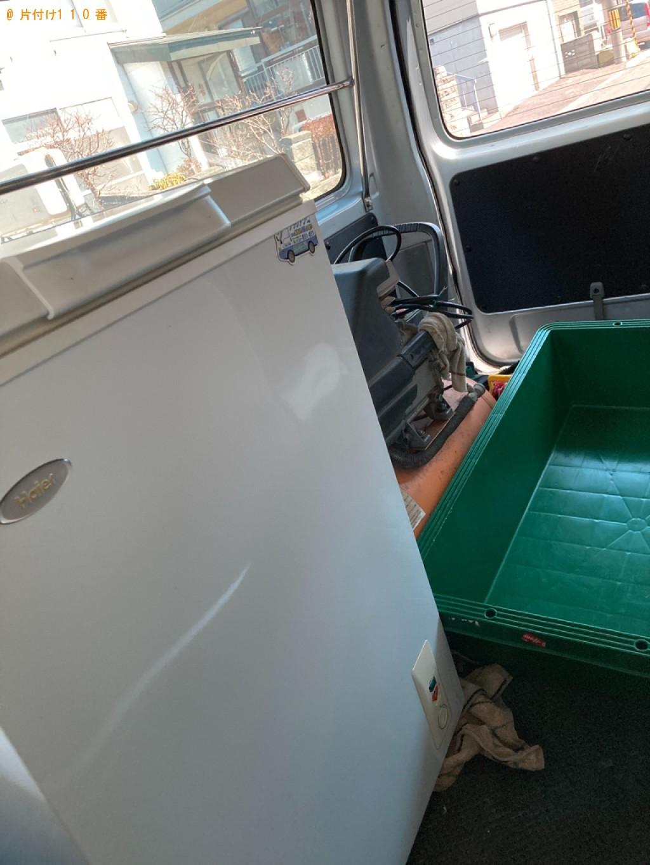 冷凍庫、パソコン、プリンタ―、コンプレッサー等の回収